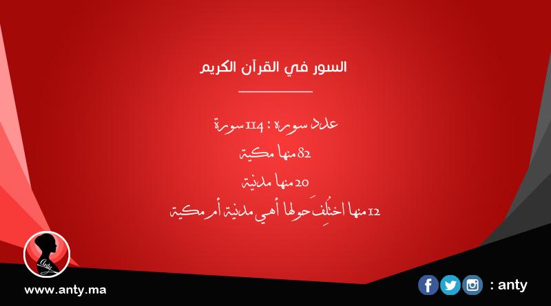 كم يوجد من اية في القران الكريم - عدد سور القرآن - عدد السور المكية وعدد السور المدنية