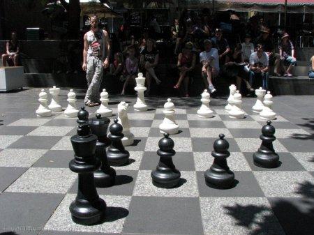 Melbourne, Swanston Street, szachy