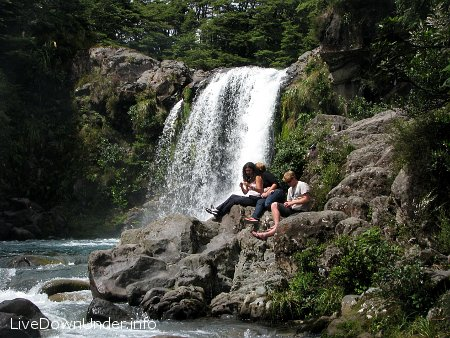 Wodospad Tawhai, Tongariro National Park, Nowa Zelandia
