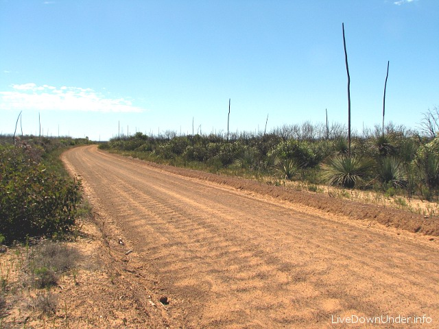 droga gruntowa na Kangaroo Island