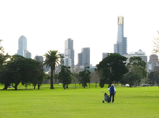 Golf w Australii. Pole golfowe w Albert Park, Melbourne.