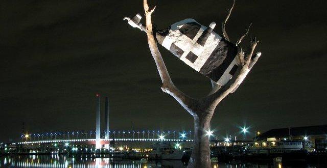 Melbourne Docklands, Bolte Bridge i krowa