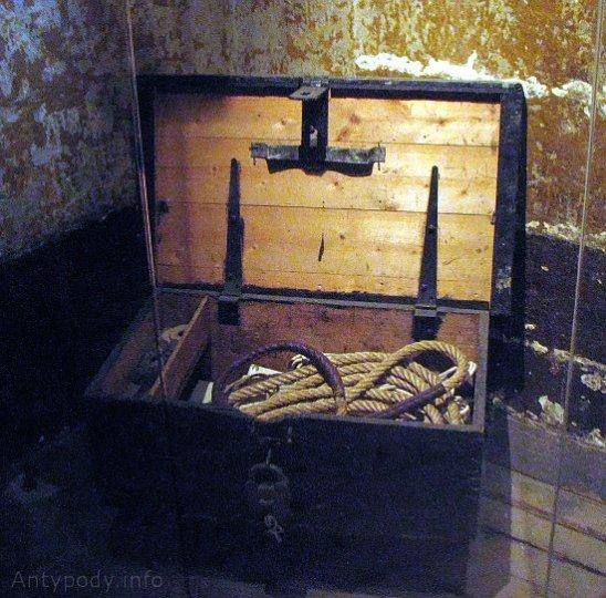 skrzynia kata, stare więzienie w Melbourne, Australia