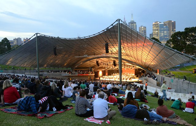 Koncert w Sidney Myer Music Bawl, Melbourne
