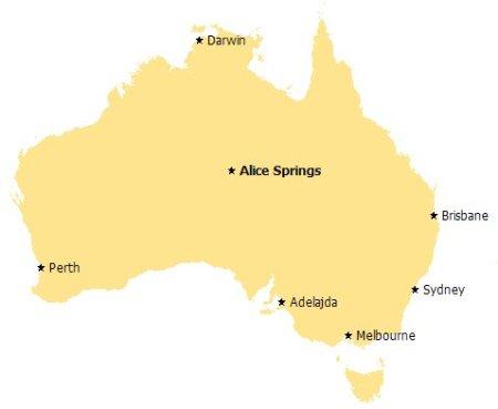 Mapka Australii