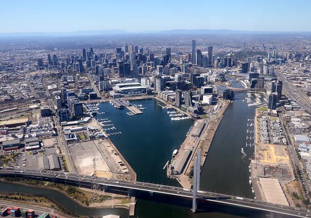Melbourne z lotu ptaka: Docklands