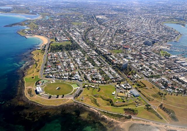Melbourne z lotu ptaka: Williamstown