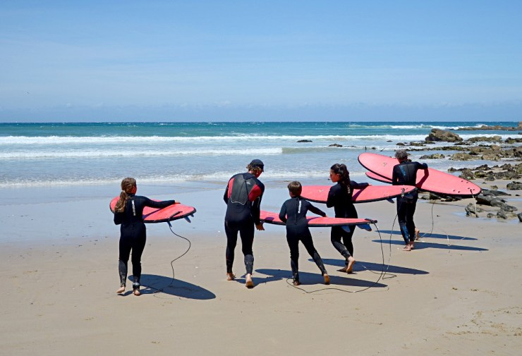 pierwsza lekcja surfowania, Bastion Point