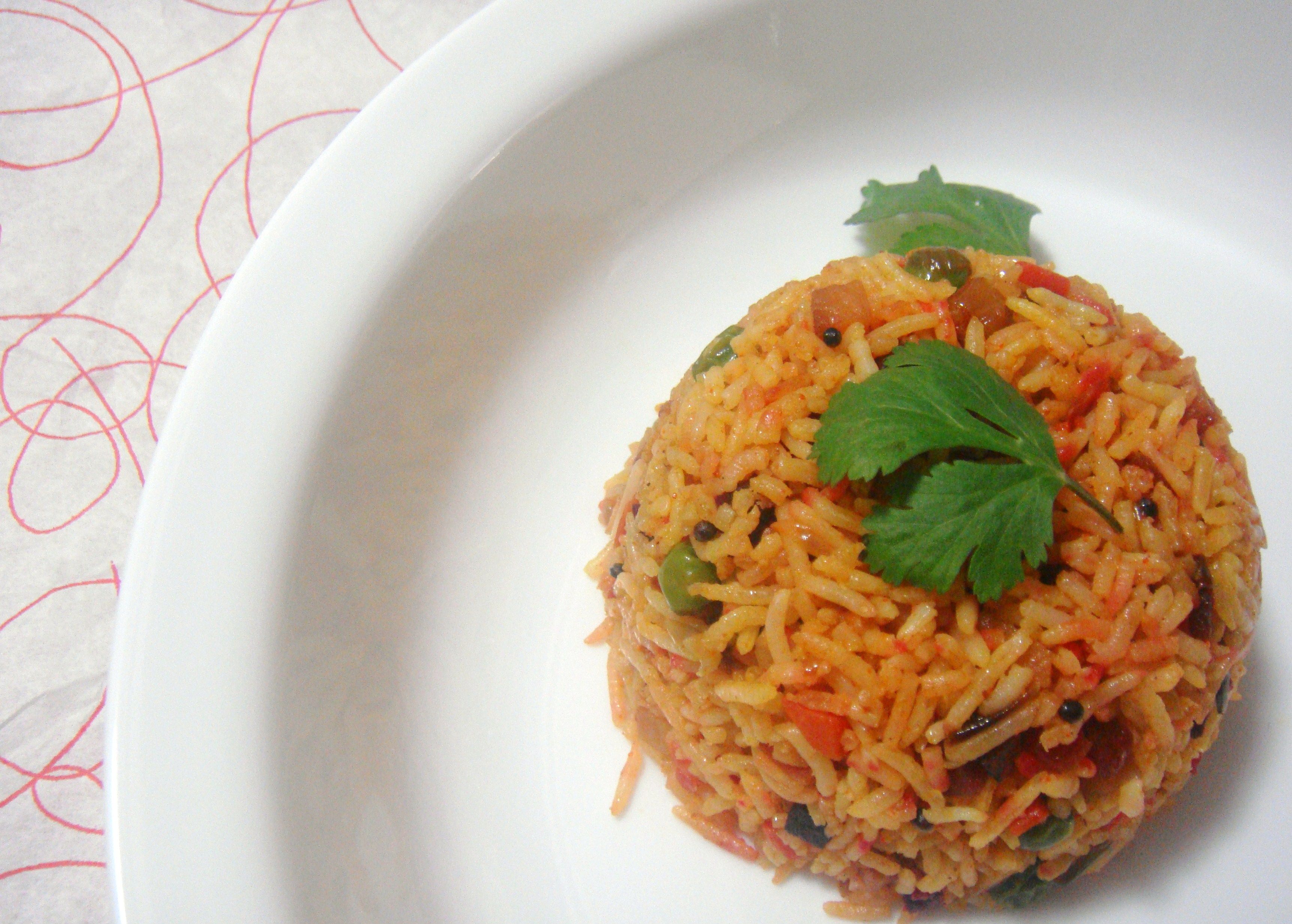 Colourful Vegetable Rice.