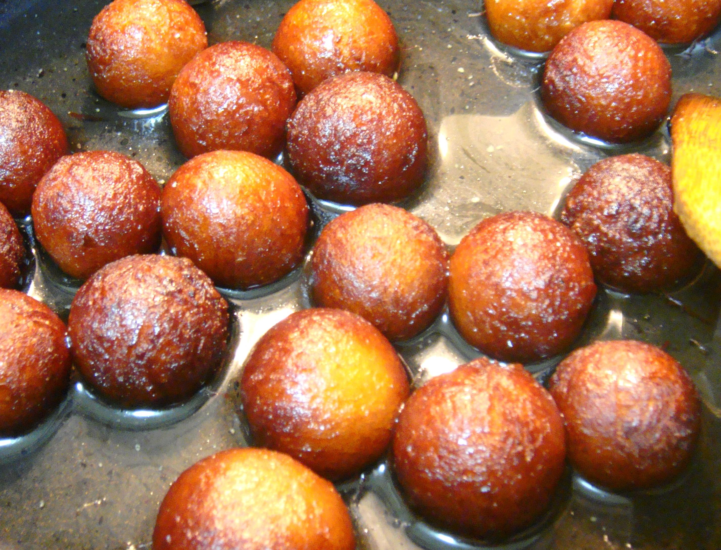 Jamuns in Sugar Syrup.