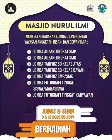 Lomba Adzan, Tahfidz, dan Fotografi Masjid Nurul Ilmi