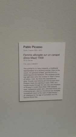 Description of one of Picasso's original paintings (artwork in next picture)