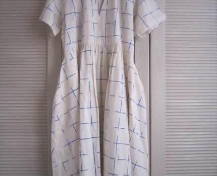 クローゼット整理!HENRIK VIBSKOV 100%cotton オーバーサイズ 半袖ワンピース XS/S(40細身) used