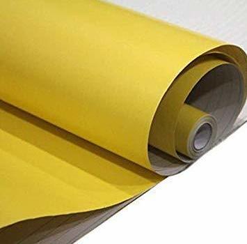 新品黄 [マローサム] 貼って剥がせる 壁紙 両面テープ付き カッティング シート ウォール ステッカー 粘着 無地HDHO