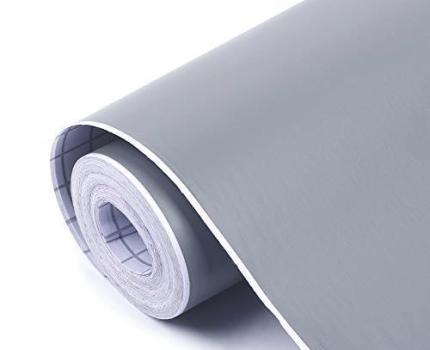 お待ち堂様 壁紙シール 無地 DIY ウォールステッカー はがせる 防水 45cm×10M グレー 壁紙 シール のり付き クロス カッティングシート