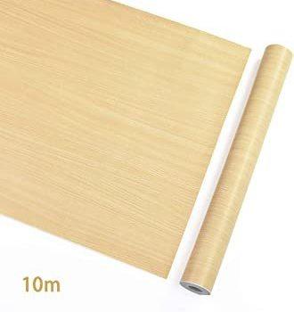 ナチュラル 木目 45cmx10m 壁紙 シール 木目 壁のステッカー 壁紙 はがせる リメイク シート リフォーム ウォール