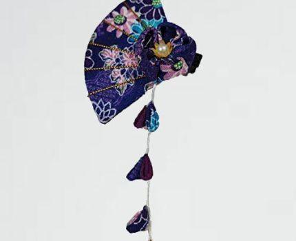 好評 新品 髪飾り MaitianGuyou 9-F3 振袖 袴5.5*8cm(紫の) 和装 扇型 つまみ細工 ヘアクリップ 浴衣 七五三 卒業式 結婚式 成人式