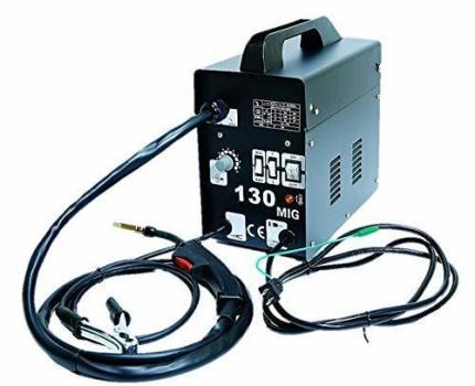 ガス不要な半自動溶接機 MIG130 単相100V仕様!鉄・ステンをお手軽に溶接!特注ロングトーチケーブル採用!
