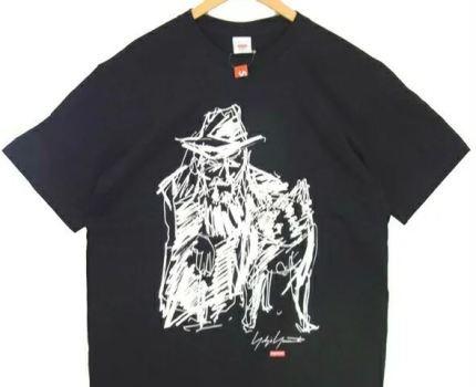シュプリーム SUPREME × ヨウジヤマモト Yohji Yamamoto 20AW Scribble Portrait Tee Tシャツ ブラック系
