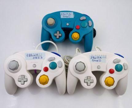 ★ジャンク★GAME CUBE ゲームキューブ コントローラー ホワイト 白 エメラルドブルー 3個セット★GC★Nintendo ニンテンドー★JUNK★