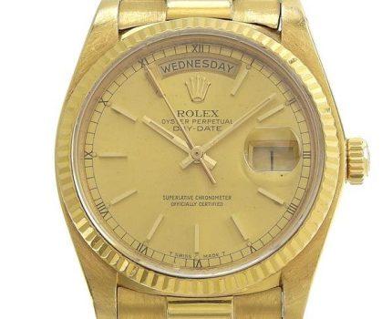 1円☆03楽市☆ ROLEX ロレックス K18YG デイデイト メンズ オートマ 腕時計 18038 83番台 132.0g