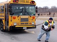 Bud pulling a Bus