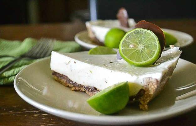 Vegan Chocolate-coated Key Lime Pie by An Unrefined Vegan