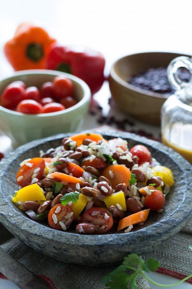 Oil-free Southwest Rice & Bean Salad by An Unrefined Vegan