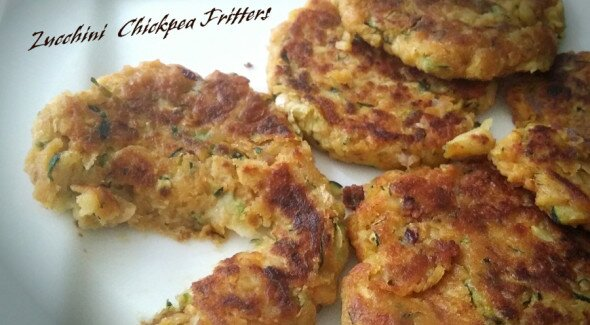 Zucchini Chickpea Fritters Yes! I am Vegan