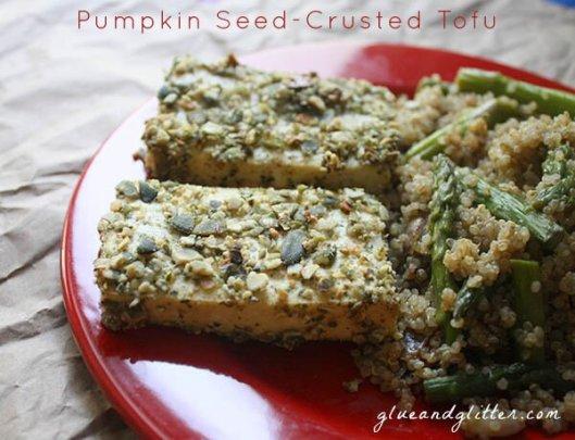 Pumpkin Crusted Tofu