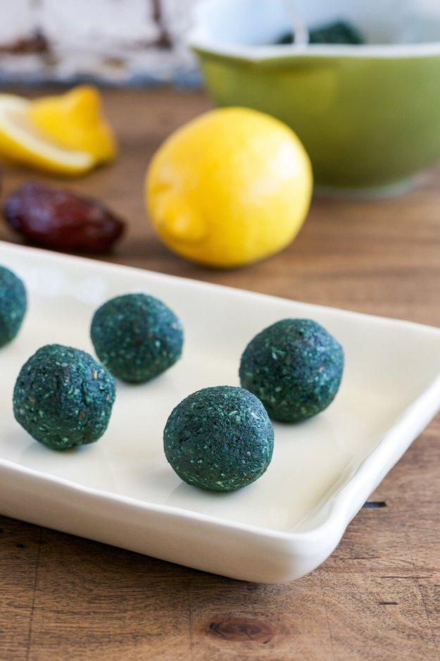 Lemon-Coconut Spirulina Balls An Unrefined Vegan