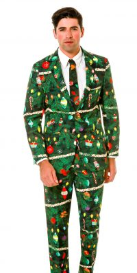 christmas themed plaid suit