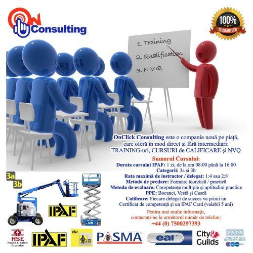 Training-uri si Cursuri de Calificare IPAF/PASMA/NVQ
