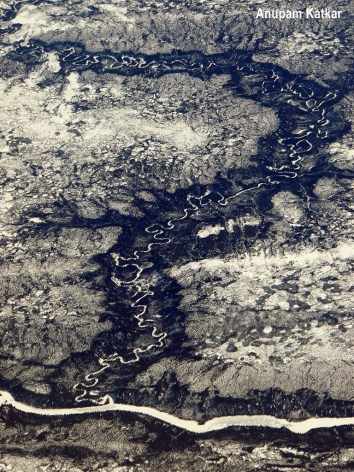 Tributary and River in Canadian Tundra