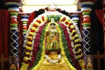 161-Navaratri 2014 – Day-9 Mahishasura mardhini at Sri Ramanashramam, Tiruvannamalai.
