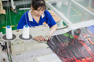 Advertising Light Box Fabric Production 進口燈箱彈力布加工