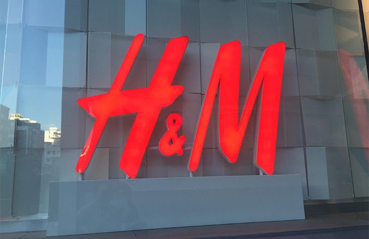 H&M LED Letter Signage