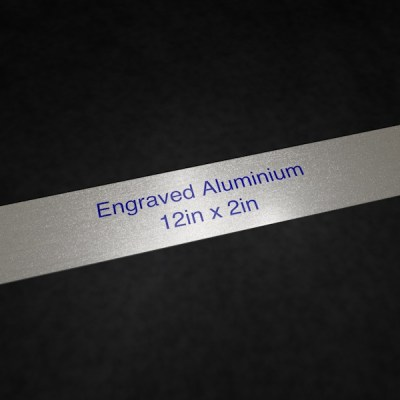 Engraved Aluminium 12in x 2in