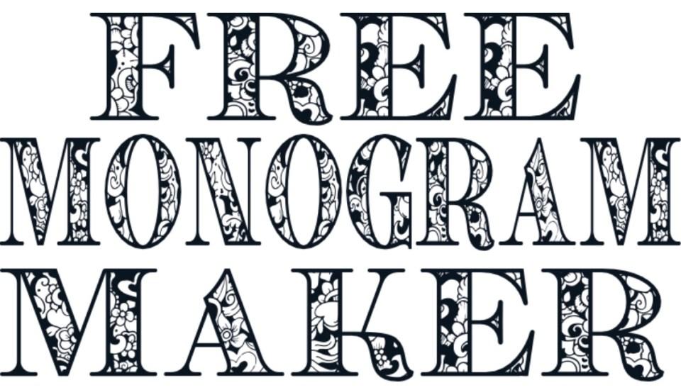 Free Monogram Maker Ad Anxiety And Liz