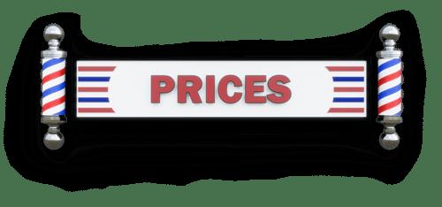 Steve's Barbering Prices