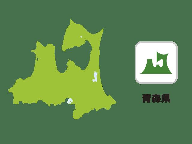 青森県地図イラスト