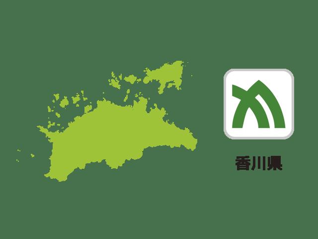 香川県地図イラスト
