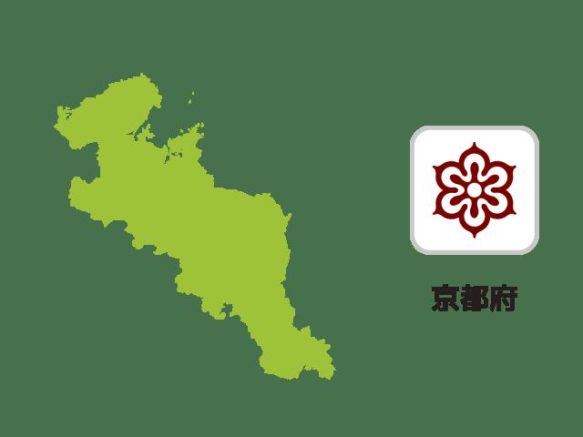 京都府地図イラスト