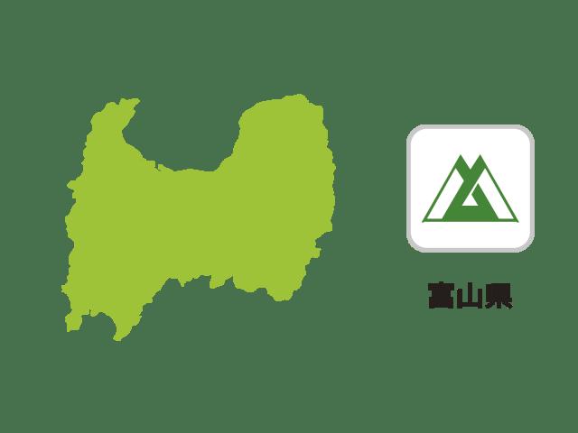 富山県地図イラスト