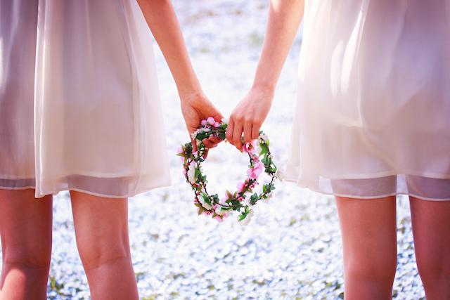 結婚式ゲストによるフラワー演出