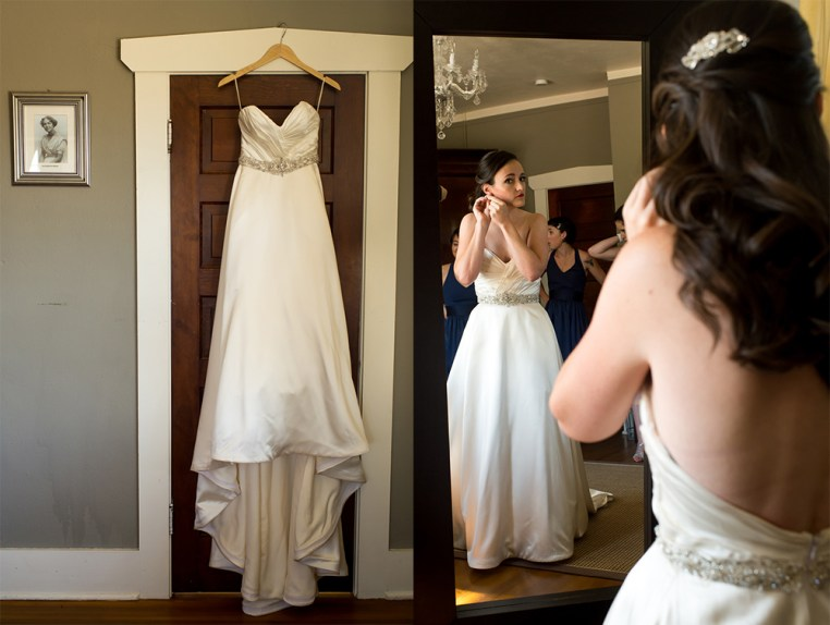 Ellery gets ready before her Manor House wedding on June 26, 2016, in Littleton, Colorado.