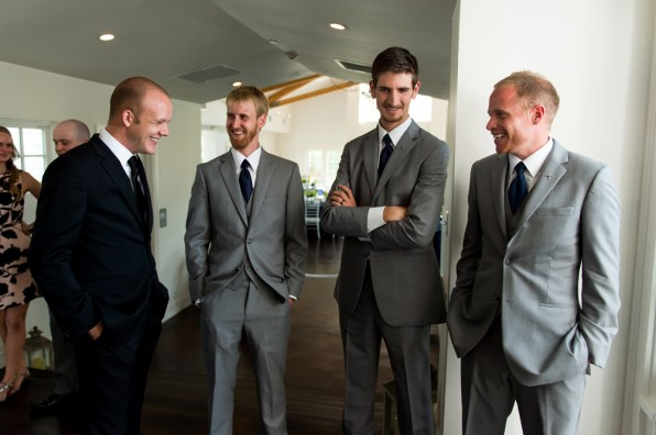 Kevin and his groomsmen wait before the start of his Manor House Wedding on June 26, 2016, in Littleton, Colorado.