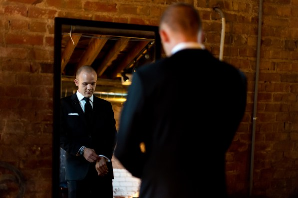 Kevin gets ready before his Manor House wedding on June 26, 2016, in Littleton, Colorado.