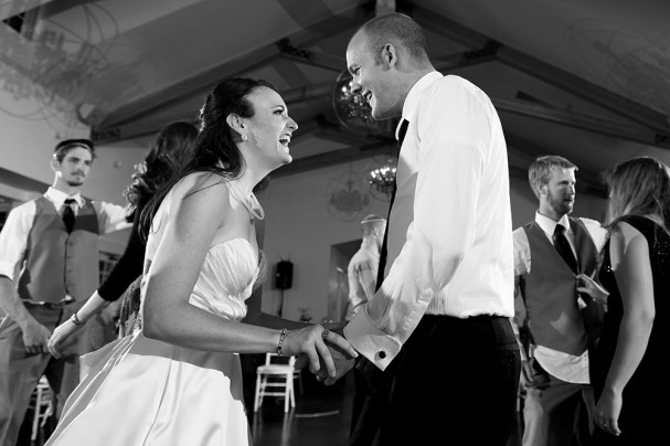 Kevin and Ellery dance during their Manor House wedding on June 26, 2016, in Littleton, Colorado.
