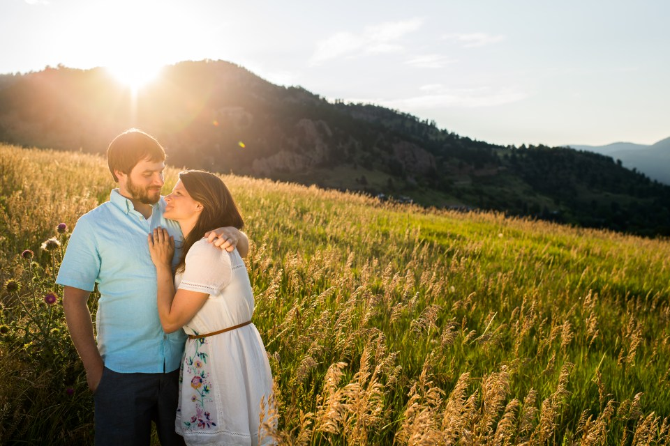 Engagement session at Boulder's Chautauqua Park